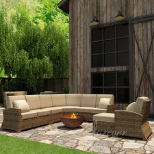 Cypress 7 Piece Sectional Deep Seating Group with Cushion
