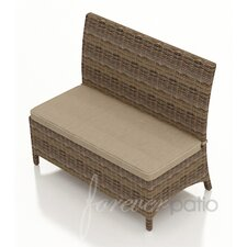 Cypress Wicker Loveseat Bench