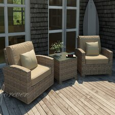 Cypress 3 Piece Glider Deep Seating Group with Cushion