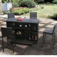 <strong>Sirio</strong> Capela Bar 5 Piece Dining Set