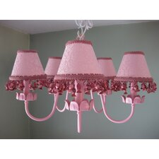 Mad About Mauve 5 Light Chandelier