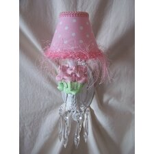 <strong>Silly Bear Lighting</strong> Baby Pink Flower Wall Sconce