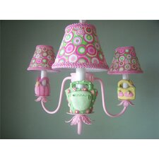 <strong>Silly Bear Lighting</strong> Happy Handbag 3 Light Chandelier