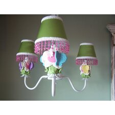 <strong>Silly Bear Lighting</strong> Butterfly Friends 3 Light Chandelier