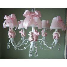 Piggy Princess 5 Light Chandelier