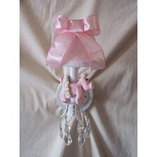 <strong>Silly Bear Lighting</strong> Piggy Princess Wall Sconce