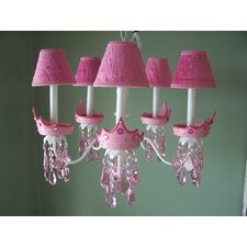 <strong>Silly Bear Lighting</strong> Glamour Girl Crowns 5 Light Chandelier