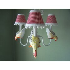 <strong>Silly Bear Lighting</strong> Farmyard Friends 4 Light Chandelier