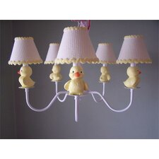 Rubber Duckie 5 Light Chandelier