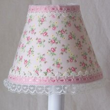 "5"" Shabby Baby Rose Fabric Empire Candelabra Shade"