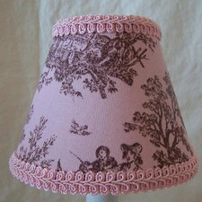 Pink Jamestown Toile Chandelier Shade