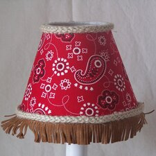 "5"" Barrel Racer Fabric Empire Candelabra Shade"