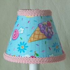 "5"" Summer Vacations Fabric Empire Candelabra Shade"
