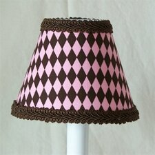 "5"" Frosted Brownies Fabric Empire Candelabra Shade"