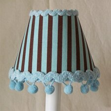 "5"" Striped Desserts Fabric Empire Candelabra Shade"