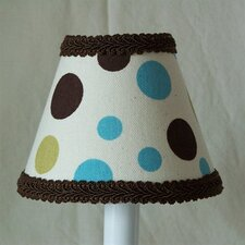 "5"" Dots In Color Fabric Empire Candelabra Shade"