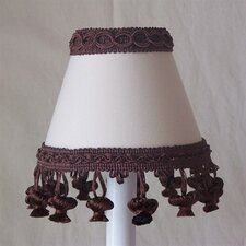 "5"" Chocolate Muffin Mix Fabric Empire Candelabra Shade"