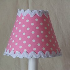 "5"" Polka Dot Fabric Empire Candelabra Shade"