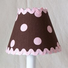 "5"" Chocolate Ric-Rac Fabric Empire Candelabra Shade"