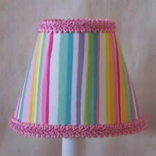 "5"" Rainbown Retreat Fabric Empire Candelabra Shade"