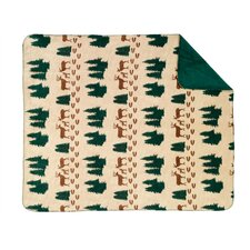 Acrylic Deer Double-Sided Throw
