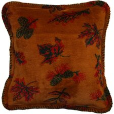 Acrylic / Polyester Falling Leaves Pillow
