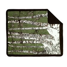 Acrylic Birch Trees Double-Sided Throw