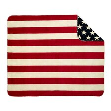 Acrylic Stars and Stripes Double-Sided Throw