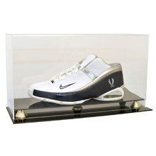 Single Shoe Display Case with Gold Risers