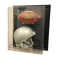 "Helmet and Football ""Case-Up"" Display"