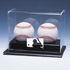 MLB Logo Double Baseball Display
