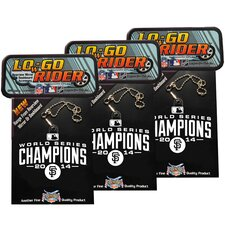 2014 San Francisco Giants World Series Champions LOwGO-Rider Team Logo Accessory (Pack of 3)