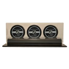 Triple Hockey Puck Display Case