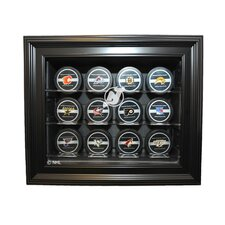Twelve Puck Display Case in Brown