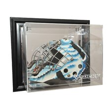 NHL Goalie Mask Case Up Display Case in Black