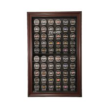 Sixty Puck Cabinet Style Display Case in Mahogany