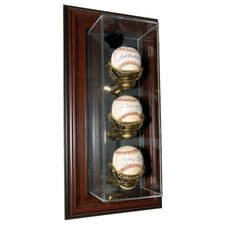 "Three Baseball ""Case-Up"" Display"