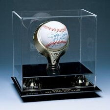 Single Baseball Gold Ring Display Case