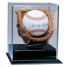 Soft Brown Glove Baseball Display Case
