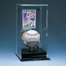 Baseball and Card Display Case