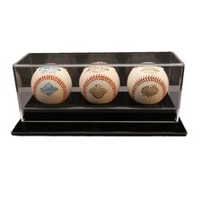 Three Baseball Display Case