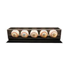 Five Baseball Display Case
