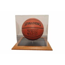 Basketball Display Case in Wood