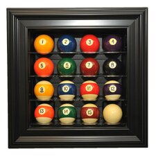 Sixteen Pool Ball Display