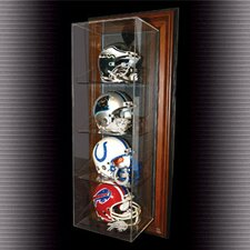 "Four Vertical Mini Helmet ""Case-Up"" Display"