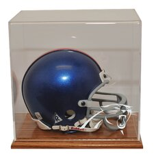 Mini Helmet Display in Wood finish
