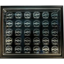 "NHL Thirty Puck ""Case-Up"" Logo Display Case"