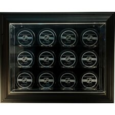 "Twelve Puck ""Case-Up"" Display in Brown"