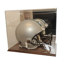Helmet Display Case in Wood
