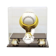 MLB Gold Ring Single Baseball Display